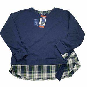 IZOD Women's Long Sleeve 2-Fer Sweatshirt